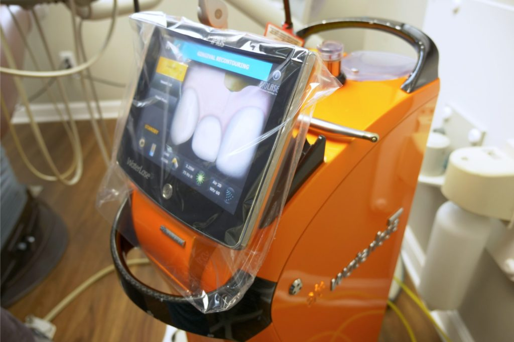 Orange dental scanner